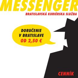 CENNÍK - MESSENGER