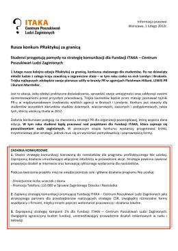 Informacja prasowa do pobrania - Zaginieni.pl