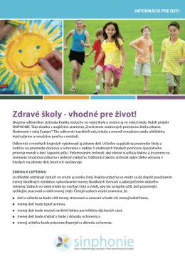Zdravé školy - vhodné pre život!