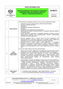 K-047/1 - Drugi Urząd Skarbowy w Opolu