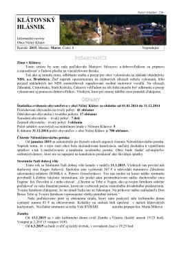 Hlásnik 01/2015
