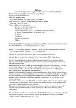 Zápisnica a uznesenie z 22.5.2013