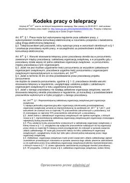 Kodeks pracy o telepracy