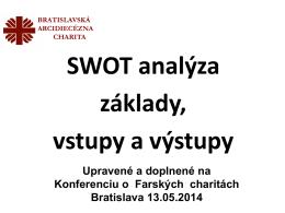 Vstupy do SWOT analýzy a jej praktické využitie