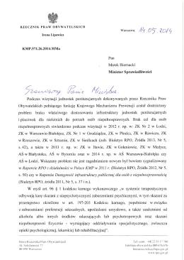 WG z 14.05.2014 do MS w sprawie dostosowania jednostek