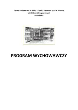 program wychowawczy - Zespół Szkół z Oddziałami Integracyjnymi