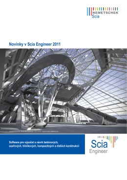 Novinky v Scia Engineer 2011