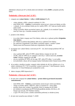 Podmienky výberu pre jednotlivé časti KV - univerzálny sys…