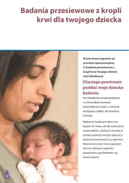 Badania przesiewowe z kropli krwi dla twojego dziecka