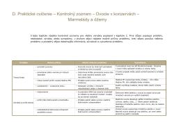 Zoznam # 11 - Ovocie v konzervách - Marmelády a