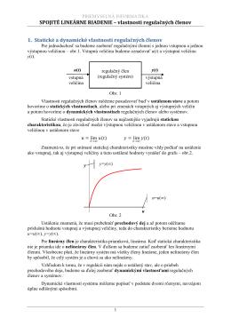 Zadanie č. 4 popis statickej dynamickej regulovanej sústavy