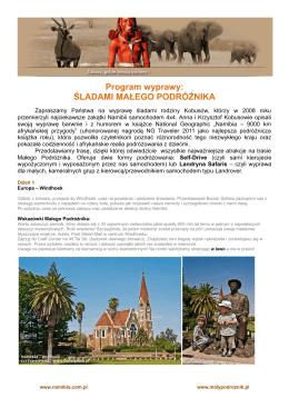Program wyprawy - Portal Małego Podróżnika