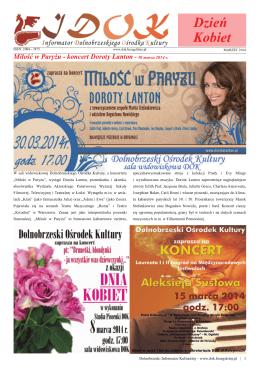 Dzień Kobiet - Dolnobrzeski Ośrodek Kultury