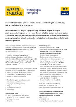 PDFinformácie o programe