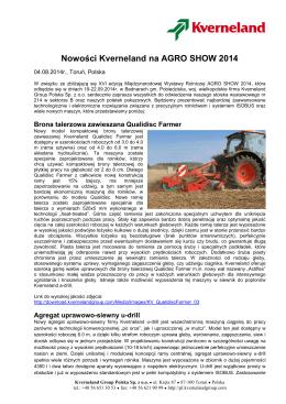 Agro Show 2014_Nowości Kverneland