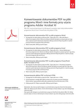 Konwertowanie dokumentów PDF na pliki programu Word i
