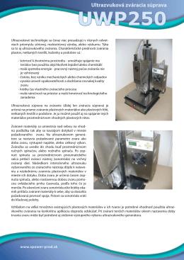 Ultrazvuková zváracia súprava UWP250