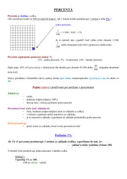 Percentá - Webnode