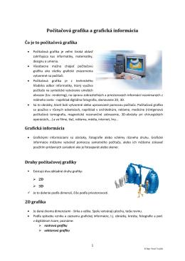 Počítačová grafika a grafická informácia