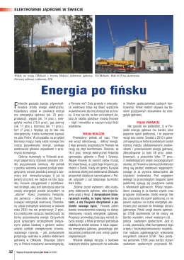 Energia po fińsku - Portal elektrownia jądrowa w Polsce