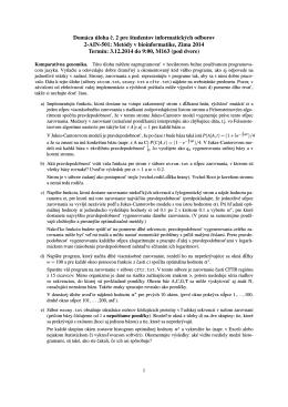 Domáca úloha c. 2 pre študentov informatických odborov 2-AIN