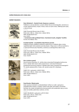 Edičná produkcia SFÚ v roku 2014