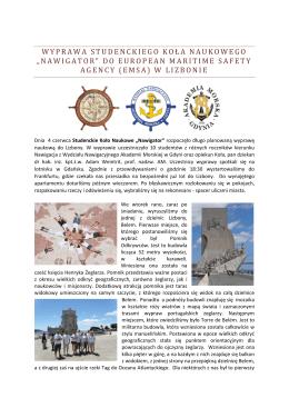 Wyprawa do EMSA - Wydział Nawigacyjny Akademii Morskiej w Gdyni