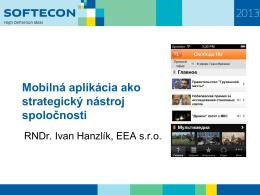 Mobilná aplikácia ako strategický nástroj spoločnosti