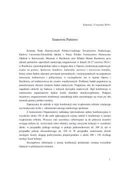 Szanowni Państwo - Univerzita Karlova v Praze