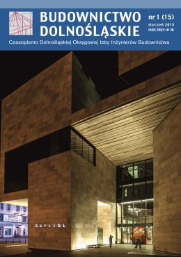 NR 1/2015 - Dolnośląska Okręgowa Izba Inżynierów Budownictwa