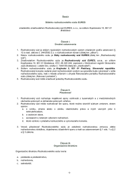 Štatút Stáleho rozhodcovského súdu EURES