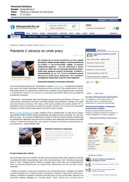 Zobacz publikację - Personnel Solutions Sp. z oo