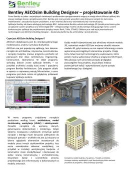 Bentley AECOsim building designer – projektowanie 4D Firma