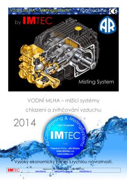 by IMTEC Misting System VODNÍ MLHA – mlžíci systémy