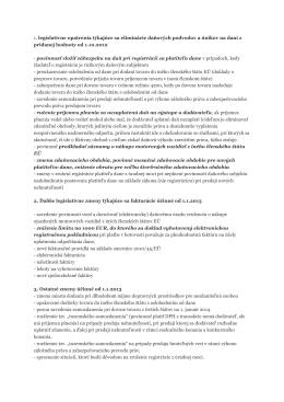 Novela zákona o DPH od 1.10.2012