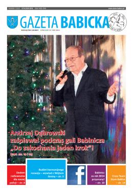 Gazeta Babicka (PDF), styczeń 2015