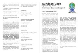 Kundalini Joga - Stowarzyszenie 3HO Polska