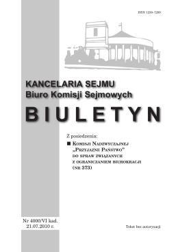 Biuletyn nr. 373 21.07.2010 - Państwowa Agencja Rozwiązywania