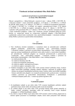 Dokument na stiahnutie - Belá