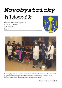 Novobystrický hlásnik 02(marec)