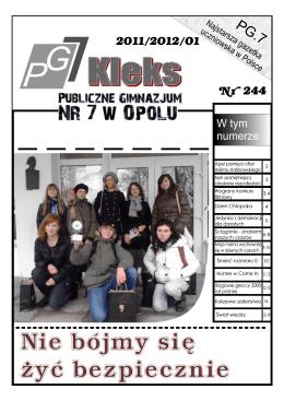 numer 1 - pg7 opole