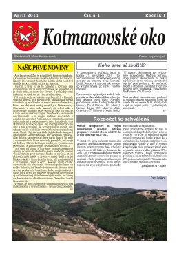 Kotmanovské oko 01/2011