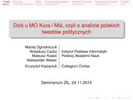 Dzis u MO Kura i Mis, czyli o analizie polskich tweetów politycznych