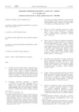 Nariadenie Európskeho parlamentu a Rady (EÚ) č. 1300/2013 zo