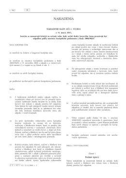 Nariadenie Rady (EÚ) č. 333/2011 z 31. marca 2011, ktorým sa