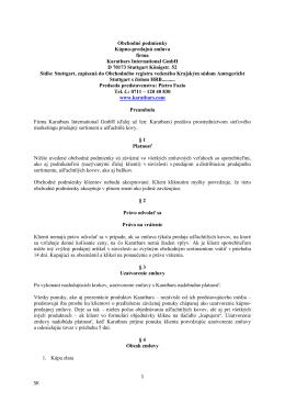 1 SK Obchodné podmienky Kúpno-predajná zmluva firma Karatbars
