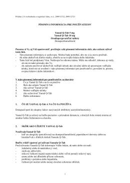 Yasnal Q-Tab 10 mg orodispergovateľné tablety , PIL.pdf