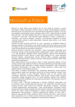 Profil spółki oraz dobre praktyki (wersja PDF)