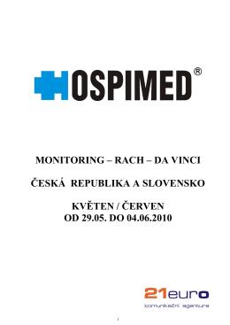 monitoring – rach – da vinci česká republika a