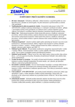 10 DÔVODOV PREČO KOMÍNY SCHIEDEL